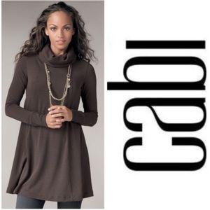 CAbi #596 Swing Turtleneck Sweater Tunic Dress XS